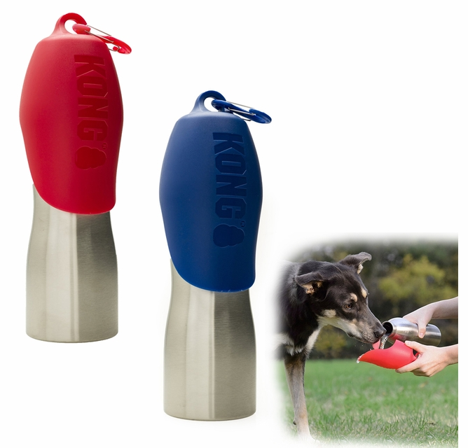 H2O4K9 Thermally Insulated K9Unit Water Bottle with Lid Bowl SAR Orange 700 ml