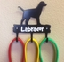 Metal Dog Leash Hook - Labrador