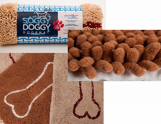 Soggy Doggy Doormat Super Absorbent Dog Paw Cleaning Mat
