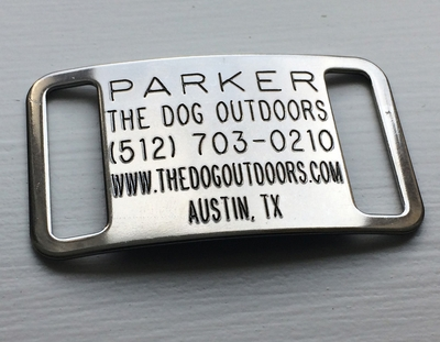 Standard Slide On CollarTag - Stainless Steel