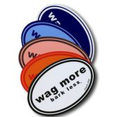 Wag More Bark Less Car Magnet