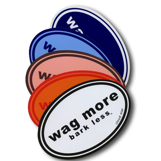 Wag More Bark Less Car Magnet|Magnets That Say Wag More Bark