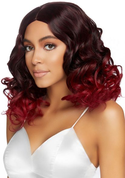 "18"" Curly Ombre Long Bob Wig"