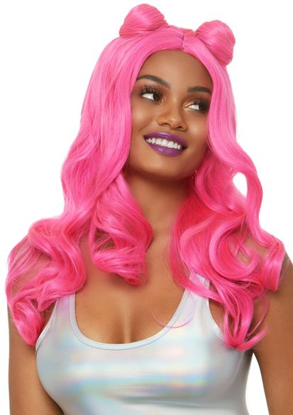 "24"" Beachy Waves Long Wig With Buns"