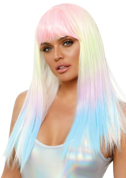 """24"""" Straight Bang Pastel Ombre Wig"""