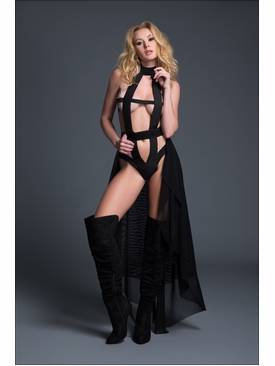Adore A1015 Edgy Teddy & Sheer Skirt