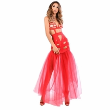 Adore A1016 Fantasy Mermaid Dress With Tulle Tail