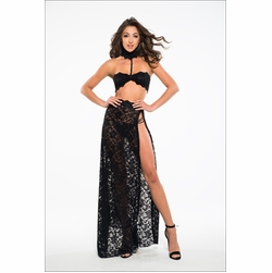 Adore A1033 See Through Me, Lace Bandeau Top & Skirt