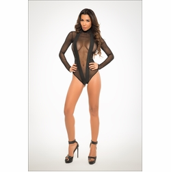Adore A1040 Irresistibly Sheer Bodysuit With Enticing V Shape