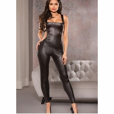 Allure 10-3302 Wet-Look Open Back Catsuit