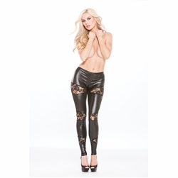 Allure 16-8602K Lace & Wet Look Leggings