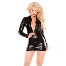 Allure 17-1302K Sexy Siren Wet Look Dress