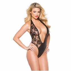 Allure 4-2602K Sexy Lace & Wet Look Teddy