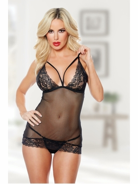 Allure Blush Me Babydoll & G-string
