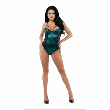 Allure Satin And Lace Teddy