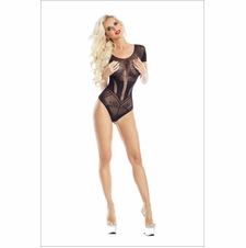 Art Deco Sheer Bodysuit