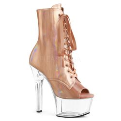 Pleaser Aspire-1021BHG Open Toe Lace-Up Front Ankle Boot