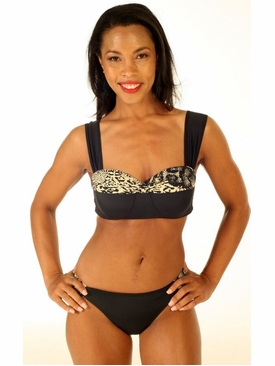 Black Safari Havana Bikini Swimsuit
