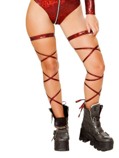 Broken Glass Leg Strap With Garter