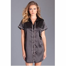 Button Down Satin Nightshirt