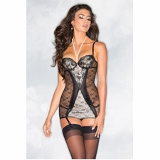 Front Lace Panel Cami With Pearls
