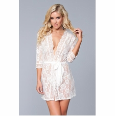 Lace Robe With Matching Thong