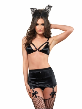 Cage Strap Bra And Girdle Skirt