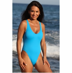 California Turquoise One Piece Bathing Suit
