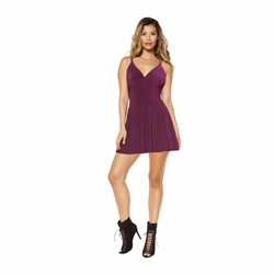 Clubwear V-Neck Flared Mini Dress