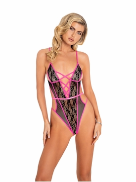 Criss-Cross Crotchless Teddy