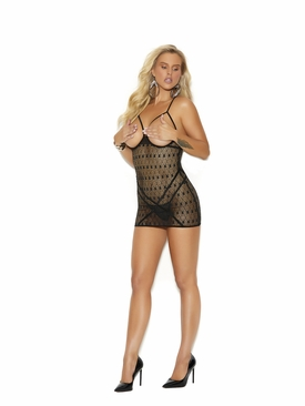 Crochet Cupless Babydoll G-String Included