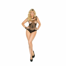 Plus Size Elegant Moments 1150Q Crochet Teddy W/Floral Design