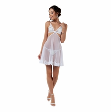 Dainty Babydoll With Lace Trim and G-String