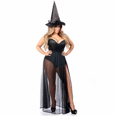 Daisy 3 PC Evil Witch Corset Costume