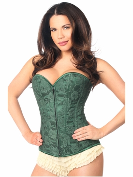 Daisy Corsets LV-67 Dark Green Lace Overbust Corset