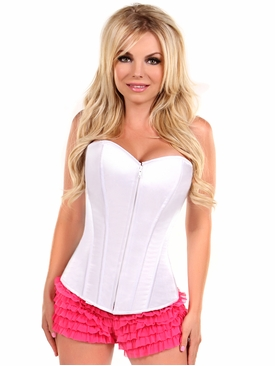 Daisy Corsets LV-73 White Sweetheart Front Zipper Corset