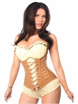 Daisy Corsets TD-042 Faux Leather Steel Boned Ren Faire Corset