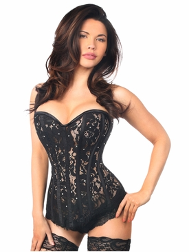 Daisy Corsets TD-138 Black Lace Steel Boned Corset