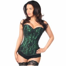 Daisy LV-102 Green Lace Front Zipper Corset