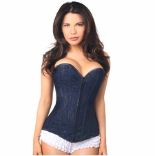 Daisy LV-200 Navy Blue Lace Overbust Corset