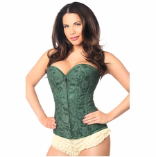 Daisy LV-67 Dark Green Lace Overbust Corset