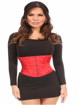 Daisy Corsets Red Satin Mini Cincher