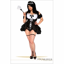 Daisy TD-109 Top Drawer 4 PC French Maid Costume