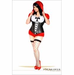 Daisy TD-125 Top Drawer 3 PC Sexy Red Riding Hood Costume