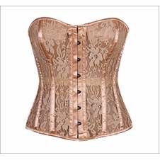 Daisy TD-299 Tan Lace Molded Cup Corset