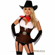 "Daisy TD-404 Top Drawer ""Ride 'em Cowgirl"" Premium Corset Costume"