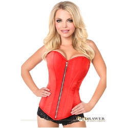 Daisy TD-601 Red Satin Steel Boned Corset