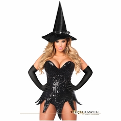 Daisy TD-935 Top Drawer Sequin Witch Corset Dress Costume