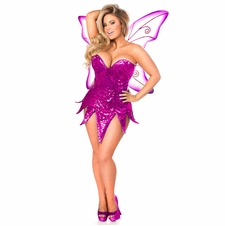 Daisy TD-938 Pink Sequin Fairy Corset Dress Costume