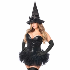 Daisy TD-974 4 PC Sexy Witch Corset Costume
